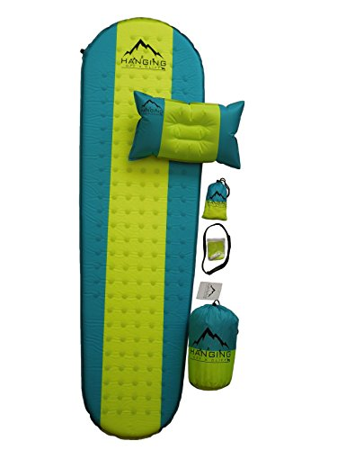 TFC Store Premium Self Inflating Sleeping Pad with Pillow Insulated for Hiking & Camping 1.5 inches Thick For Sale