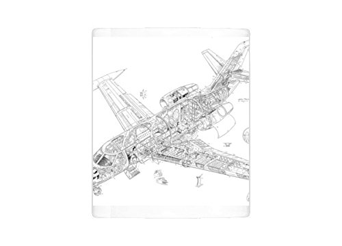 Mug of Dassault Falcon 10 Cutaway Drawing (4572234)