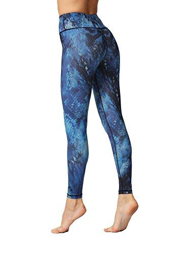 彼女自身個人頼るLadies Compression Printed Yoga Pants Workout Running Leggings Activewear