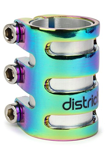 District S-Series Lightweight Triple Pro Scooter Clamp (Neo Chrome)