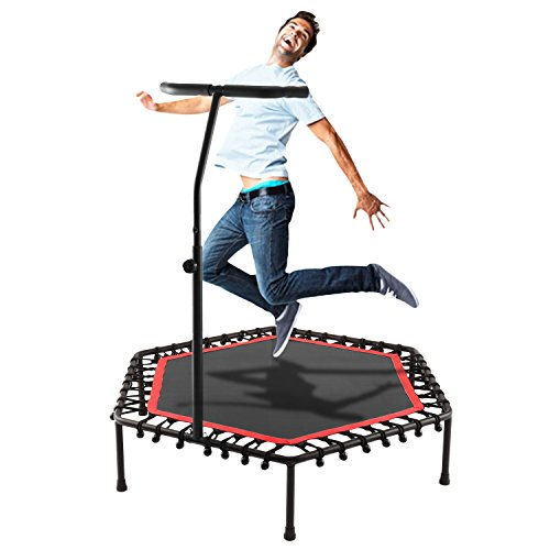 "Ultrar Sports Hexagonal 50"" Exercise Trampolines with Adjustable Handle Bar (220Lbs, US STOCK)"