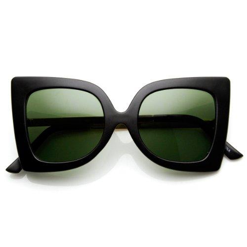 zeroUV - Women's Fashion Bow-Tie Butterfly Shape Oversized Sunglasses (Matte-Black - Uva Bow Tie