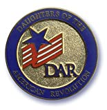 Daughters of the American Revolution DAR Logo Lapel Pin