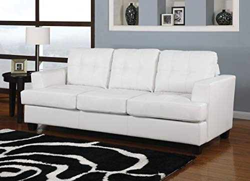 Acme Platinum Sofa w/Queen Sleeper, White Bonded Leather White Bonded ()