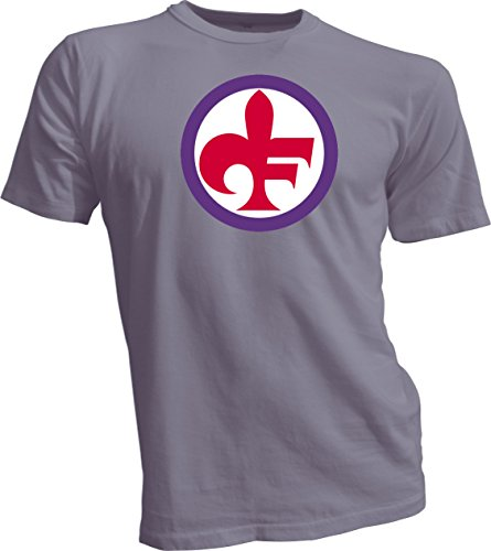 Gildan ACF FIORENTINA SOCCER FOOTBALL SOCCER ITALY T-SHIRT GRAY SMALL by Gildan
