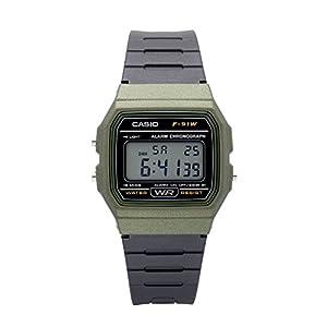 Casio Men's 'Vintage' Quartz Plastic and Resin Casual Watch, Color:Black (Model: F-91WM-3ACF)