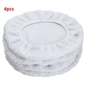 Car Polisher Bonnet Pads (9 to 10 Inch) Max Waxer Pads for Most Car Polishers Pack of 4