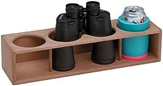 Whitecap Teak Four Insulated Drink/Binocular Rack