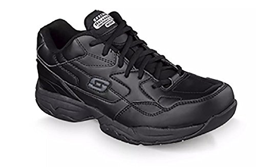 Women's Skechers Felton-Albie SR Black Work Collection Slip Resistant Memory Foam Leather Comfort Shoes (10) (Skechers Collection)