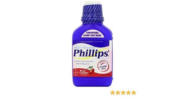 Phillips Wild Cherry Milk of Magnesia Liquid, 26-Ounce Bottles by Phillips