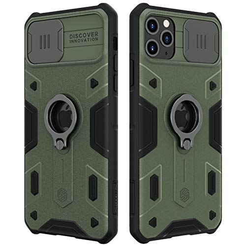Nillkin iPhone 11 Case Military Grade, Drop Tested Protective Case with Kickstand Ring Stand and Slide Camera Cover…