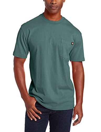 (Dickie's Men's Short Sleeve Heavyweight Crew Neck Pocket T-Shirt, Lincoln Green, X-Large)