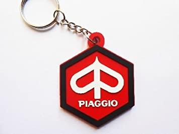 Keychains – Puerta llaves Piaggio – rojo – Italia – Motocycles – Auto – Scooter – Vespa – Goma – Puerta llaves