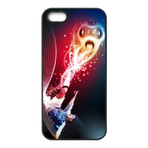 Football Soccer Sports coque iPhone 5 5S cellulaire cas coque de téléphone cas téléphone cellulaire noir couvercle EOKXLLNCD23727
