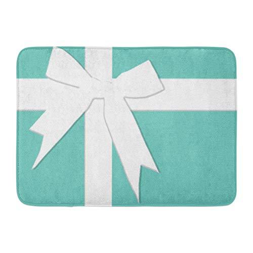 Allenava Bath Mat Blue Tiffanys Inspired Turquoise Please Return Designer Bathroom Decor Rug 16