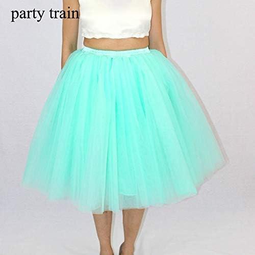 NVDKHXG Moda Maxi Largo Tutu Faldas de Tul para Mujer Falda ...