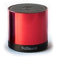 TrüSound Audio T2, Wireless Bluetooth Portable Speaker/speakerphone 360° Sound, Red