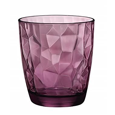 Bormioli Rocco Diamond Double Old Fashioned Glasses, Rock Purple, Set of 6
