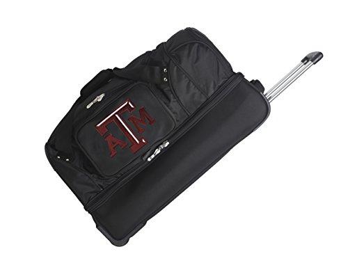Texas A&m Duffel Bag - NCAA Texas A&M Aggies Rolling Drop-Bottom Duffel Bag, 27 x 16 x 14