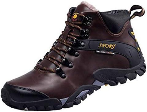メンズ冬のブーツ防水暖かい雪のブーツノンスリップ屋外のトレッキングシューズ (Color : Brown, Size : 7.0UK)