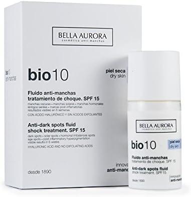 Bella Aurora Bio10 Fluido Antimanchas Piel Seca SPF 15 | Tratamiento despigmentante Facial, 30 ml: Amazon.es: Belleza