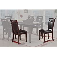 Poundex Upholstered Dining Chairs, Set of 2