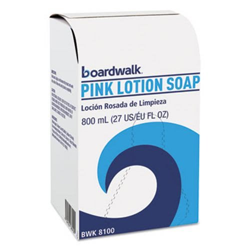 - Boardwalk 8100CT Mild Cleansing Pink Lotion Soap, Floral-Lavender, Liquid, 800ml Box, 12/carton