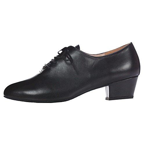 Chaussure De Danse Salsa Latine En Cuir Pour Dames De Dimichi, Noir, 10 M Us
