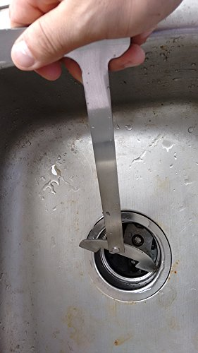 Edward Tools Garbage Disposal Wrench - Easy and quick tool for unjamming disposal - Heavy duty steel design - Simple drop in and turn to release - Saves time and money