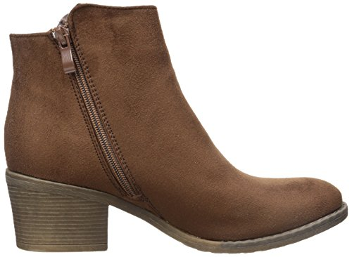 Booties 1 Stacked Heels Womens Reneeze Brown Pama Ankle Fashionable Uq7PT4vw