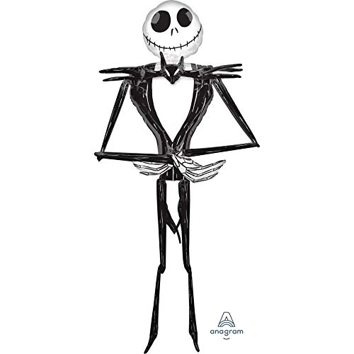 Anagram Jack Skellington Nightmare Before Christmas Huge Air Walker Foil Balloon, 7 feet Tall