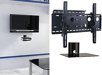 2 x casa – nuevo soporte de pared para televisor (brazo único) y único estante paquete Secure