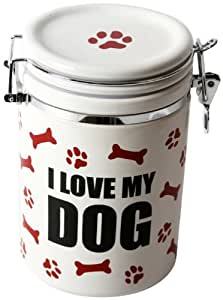 "DEI Stoneware Just Dogs Collection ""I Love My Dog"" Treat Jar"