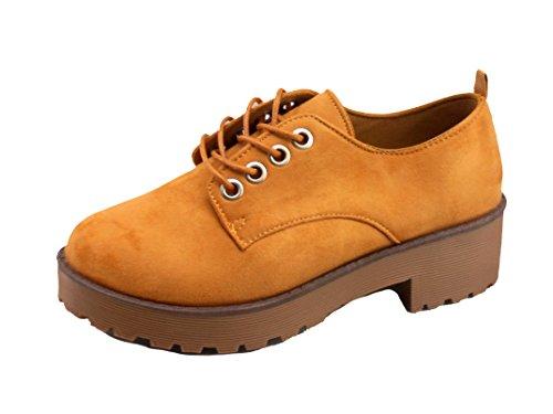 Zapato New para Rbld Piscis Camel Mujeres 4wdw1x7p