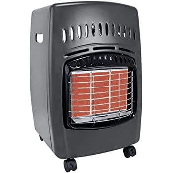 Propane space heater hook up