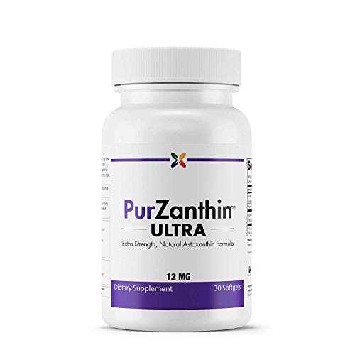 Ultra Singlet - Stop Aging Now - PurZanthinTM ULTRA Natural Astaxanthin 12 MG (PZUWPT) - Extra Strength, Natural Astaxanthin Formula - 30 Softgels