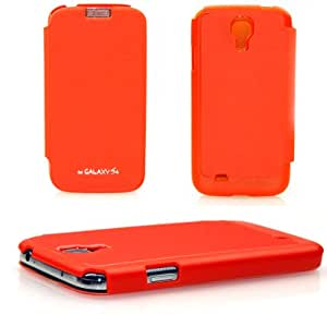NetsPower® Premium Luxury PU cuero del tirón de la bolsa del caso de la cubierta para Samsung i9500 Galaxy S4 IV - Orange