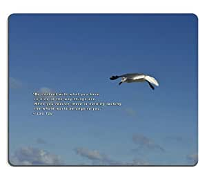Spiritual Quote by Lao Tzu Mouse Pads Customized Made to Order Support Ready 9 7/8 Inch (250mm) X 7 7/8 Inch (200mm) X 1/16 Inch (2mm) High Quality Eco Friendly Cloth with Neoprene Rubber MSD Mouse Pad Desktop Mousepad Laptop Mousepads Comfortable Computer Mouse Mat Cute Gaming Mouse_pad