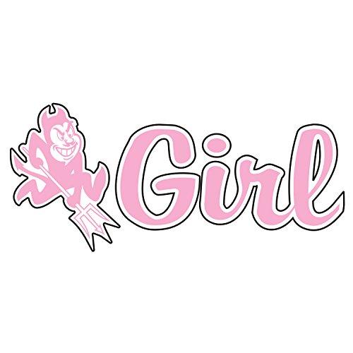 Arizona State Sun Devils Decal PINK PITCHFORK GIRL DECAL 4