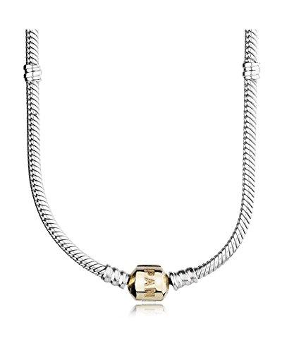 PANDORA - Collier à charms argent 925/1000 et or 585/1000 PANDORA 590703HG