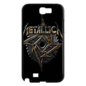 Holiday Gifts M-01 Music Band Metallica Black Print With Hard Shell Case for Samsung Galaxy Nte 2 N7100