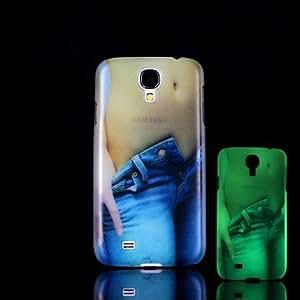 GDW belleza patrón resplandor en el caso duro oscuro para i9500 Samsung Galaxy S4