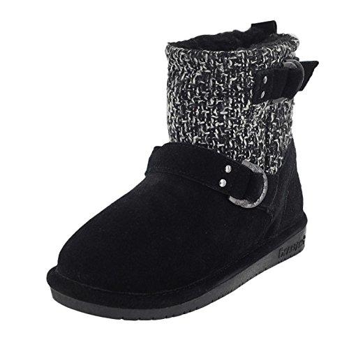BEARPAW Women's Nova Winter Boot, Black, 6 M US