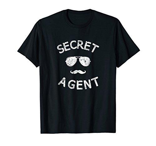 Secret Agent Shirt Distressed Halloween Funny Costume Spy ()