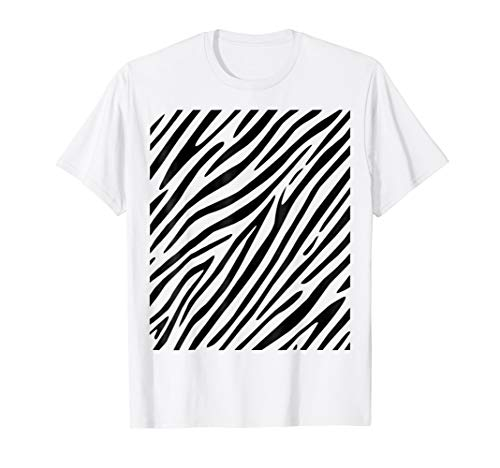 Zebra Print - Simple Easy Halloween Costume Idea - Tee Shirt ()