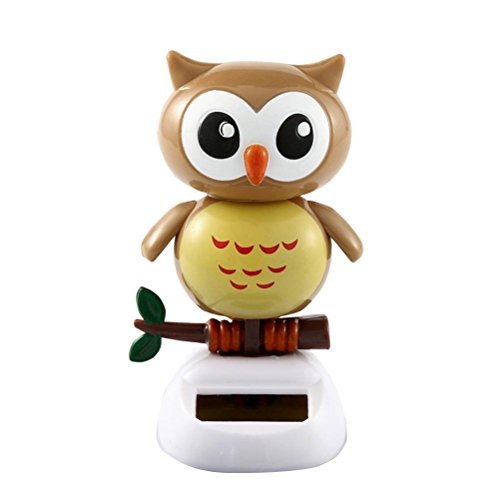 Glumes Solar Powered Dancing Toy Swaying Animal Toys For Car Decoration Owl Happy Valentine Day Happy Halloween Day (owl) -
