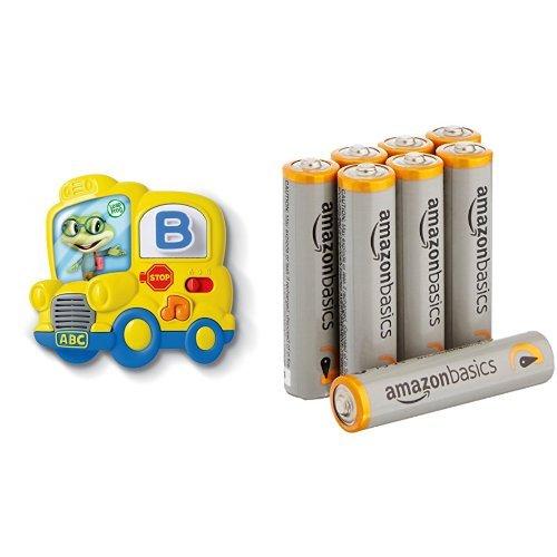 ics Magnetic Letter Set with Amazon Basics AAA Batteries Bundle ()