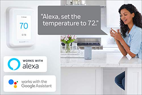 Echo Dot (3rd Gen) - Charcoal Fabric bundle with Honeywell Home T9 WIFI Smart Thermostat, Smart Room Sensor Ready