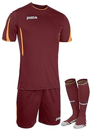 Joma - Set Roma Burdeos Camiseta m/c+Short+Medias para Hombre: Amazon.es: Deportes y aire libre