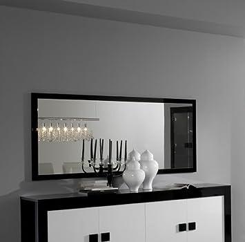 Matelpro-Miroir rectangulaire de salle à manger laqué noir Dali ...